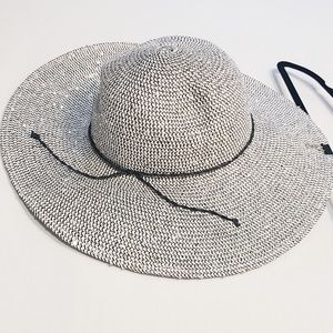 Jessica | Black Grey Sequin Wide Brim Floppy Hat